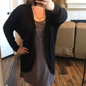 Cozy and Lite Throw On Sweater, Black